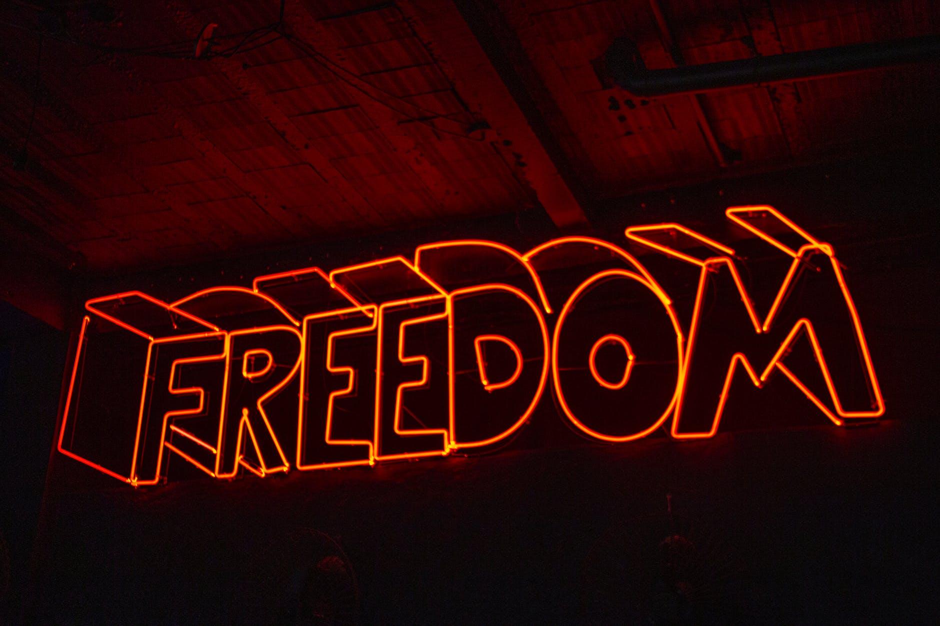 freedom, osvetleni