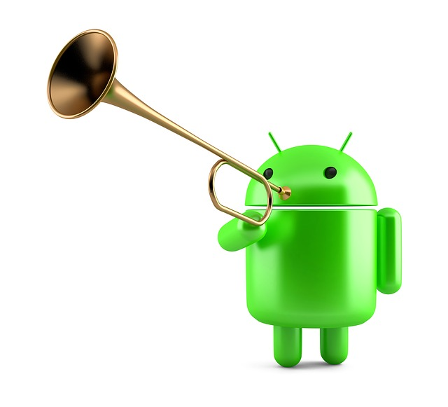 robot s trumpetou